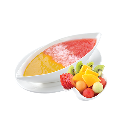 Sago with Mixed Fruits in 2 Juices