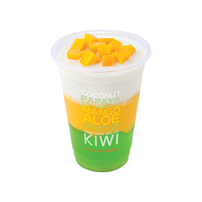 Mango & Coconut Juice with Aloe Jelly