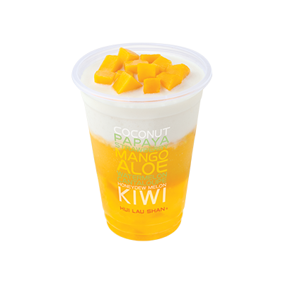 Mango & Coconut Juice with Mango Jelly
