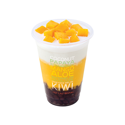Mango & Coconut Juice with Red Bean